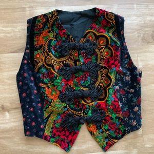 Jackets & Blazers - 1970s Velveteen Patchwork Vest